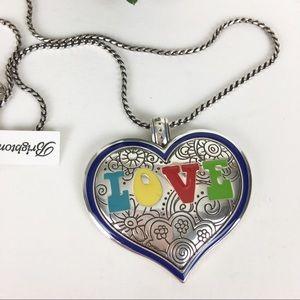 NWT Brighton Necklace Heart Love Silver